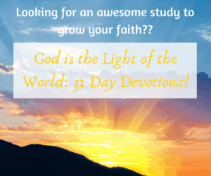 God is the light of the world