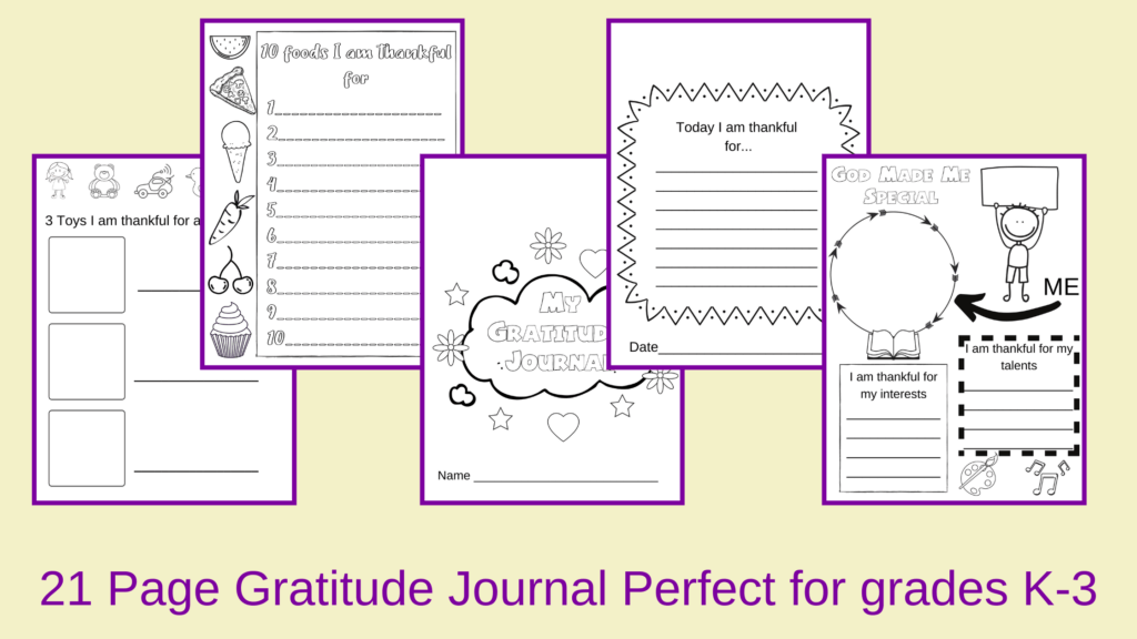 gratitiude journal for kids