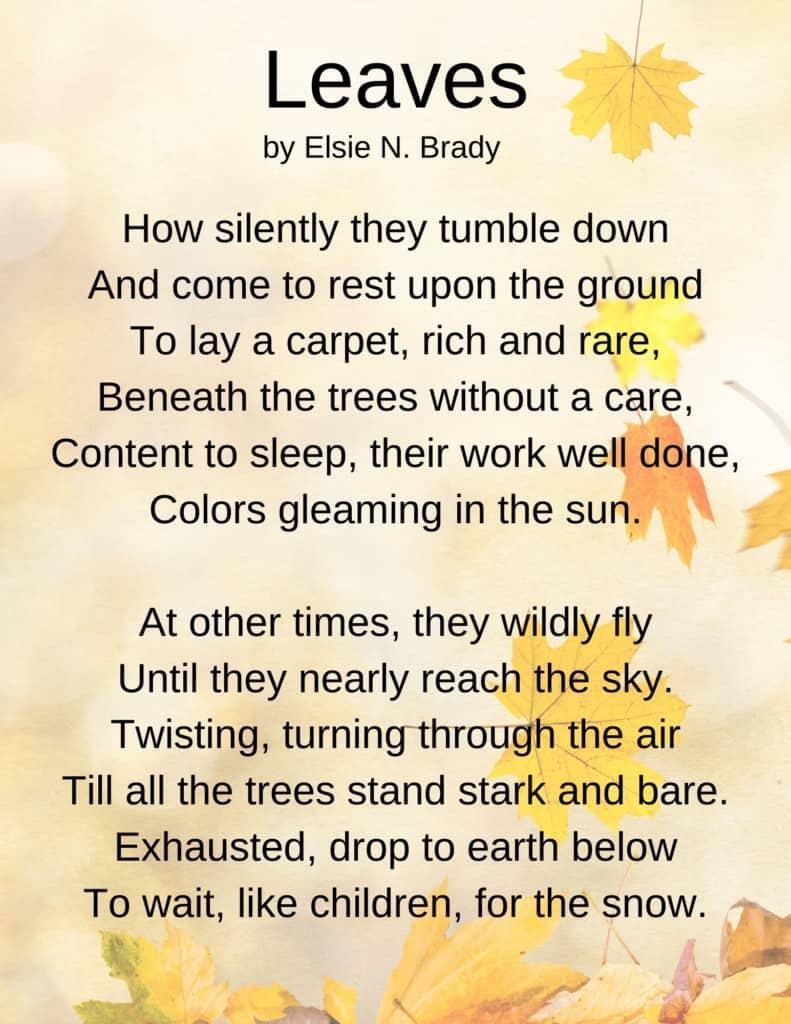 Fallen Leaves Poem