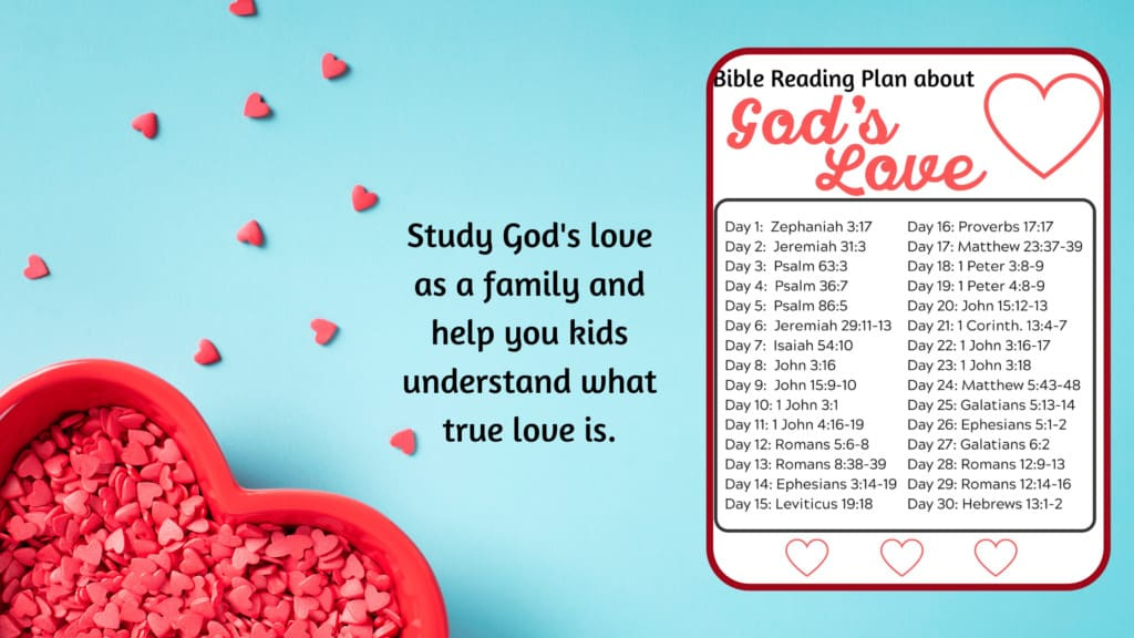 bible reading plan about love